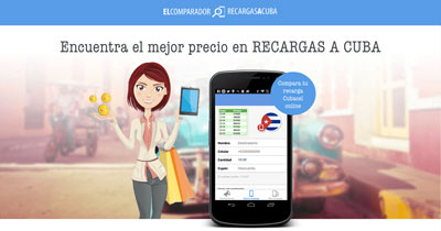 Promoción recarga doble de recargadobleacuba.com para Cubacel. Cuba